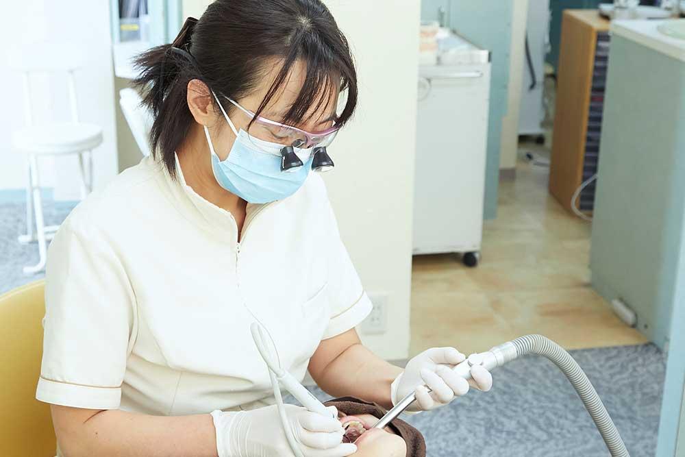 歯面清掃・試適
