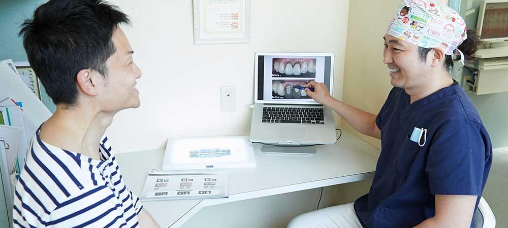 浦安市で歯を削らない審美治療「スーパーエナメル」
